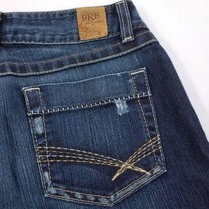 BKE Denim Culture Distressed Flare Stretch Jeans